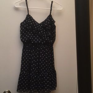 HOLLISTER Navy with polka dots spaghetti straps